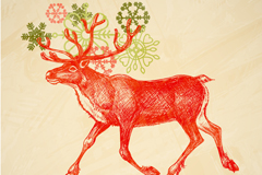 Link toHand-painted style elk vector