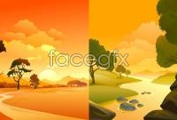 Link toHand-painted sunset vector