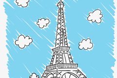 Link toHand-painted the eiffel tower vector