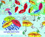 Link toHand-painted umbrella illustration vector