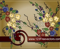 Link tovector format eps teng background pattern vine Hand-painted