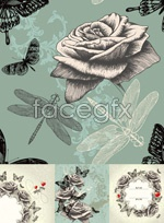 Link toHand-painted vintage rose vectors