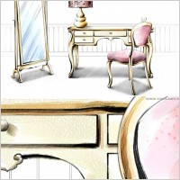 Link toHanddrawn style interior decoration psd layered images 16