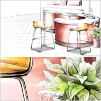 Link toHanddrawn style interior decoration psd layered images 19