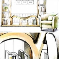 Link toHanddrawn style interior decoration psd layered images 21