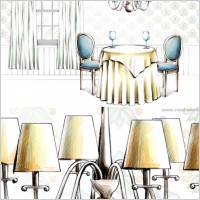 Link toHanddrawn style interior decoration psd layered images 28