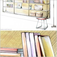 Link toHanddrawn style interior decoration psd layered images 38