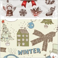 Link toHandpainted christmas ornaments vector