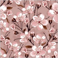 Link toHandpainted flowers vector background 2