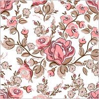 Link toHandpainted flowers vector background 3
