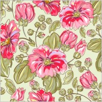 Link toHandpainted flowers vector background 5