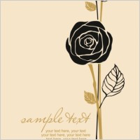 Link toHandpainted rose pattern draft line 01 vector