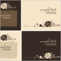 Link toHandpainted rose pattern line draft 03 vector