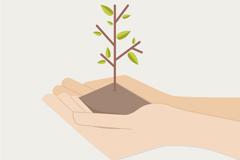 Link toHands tree design vector