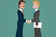 Handshake of business men vector