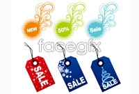 Link toHang colorful stickers vector