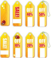 Hang tag design vector