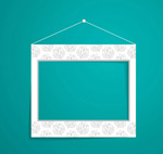 Link toHanging paper photo frame vector
