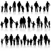 Link toHappiness family vector silhouettes free