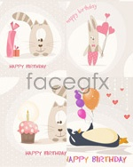 Link toHappy birthday card vector
