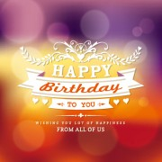 Link toHappy birthday label with halation background vector free