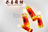 Link toHappy chinese new year firecracker vector