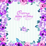 Link toHappy easter flower frame background vector 01 free