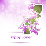 Link toHappy easter flower shiny background vector 02 free