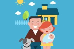 Link toHappy family of three vector
