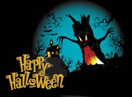 Link toHappy halloween background vector free
