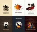 Link toHappy halloween poster vector
