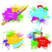 Link toHappy holi paints backgrounds 02 vector