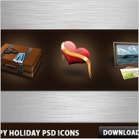 Link toHappy holidays free psd icons