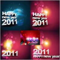 Link toHappy new year 2011 background vector