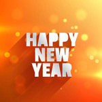 Link toHappy new year greeting card vector