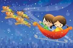 Link toHappy riding ski kids vector