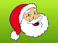 Link toHappy santa head vector free