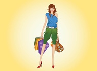Link toHappy shopping woman vector free