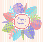 Link toHappy spring flowers vector