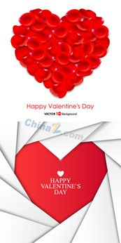 Link toHappy valentine's day vector background template