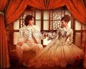 Link toHappy wedding photo studio template curtain psd