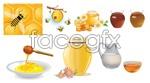 Link toHarvest of honey bees vector