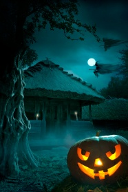 Link toHaunted house halloween jack-o-lanterns pictures