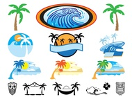 Link toHawaii icons set vector free