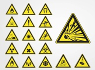 Link toHazard symbols vector free