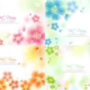 Link toHazy flower background vector