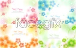 Link toHazy flowers background vector