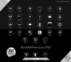 Hd black-white icons.psd