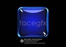 Link toHd crystal blue button psd