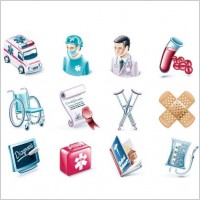 Link toHealth and medical vector icon set